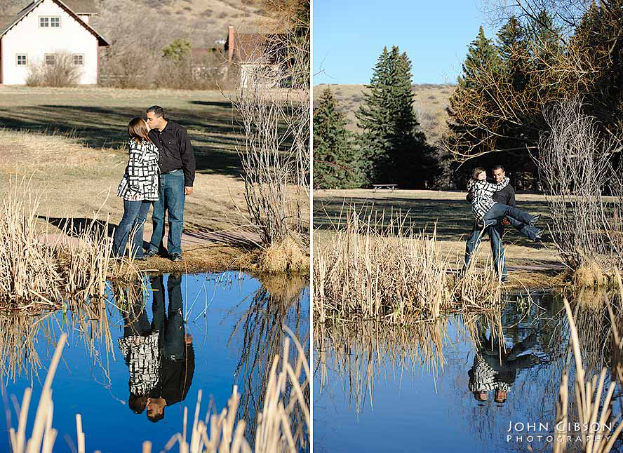 Reflection in a small pond at Rock Ledge Ranch