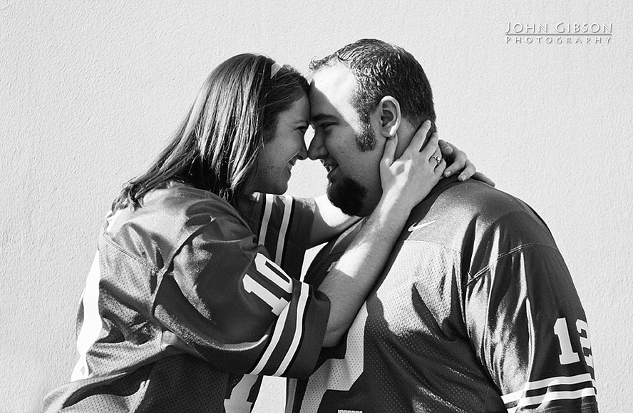 Engagement photo in black & white