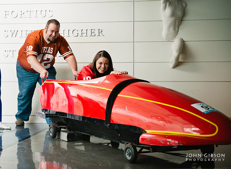 Riding in a bobsled