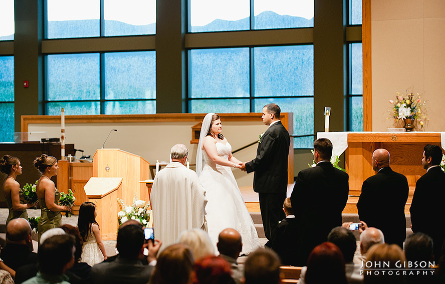 Jessica + Juan join hands at the altar