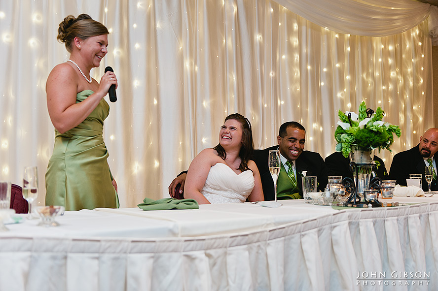 The maid of honor's touching toast