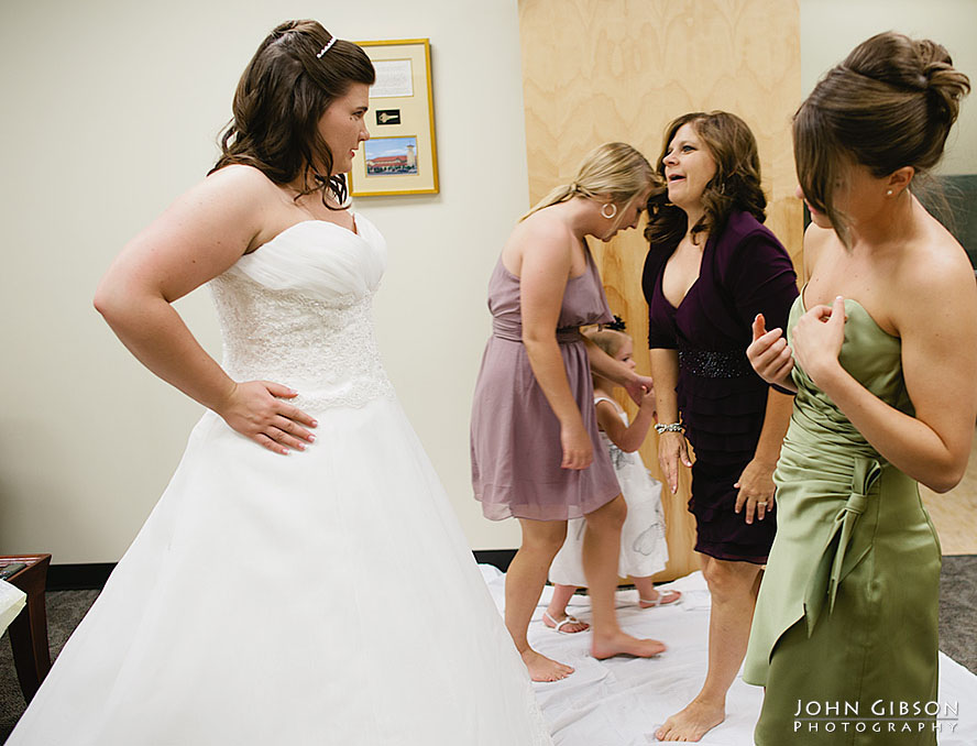 The mother of the bride's emotional reaction
