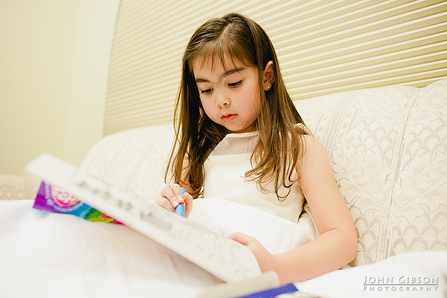 The flower girl and her coloring book