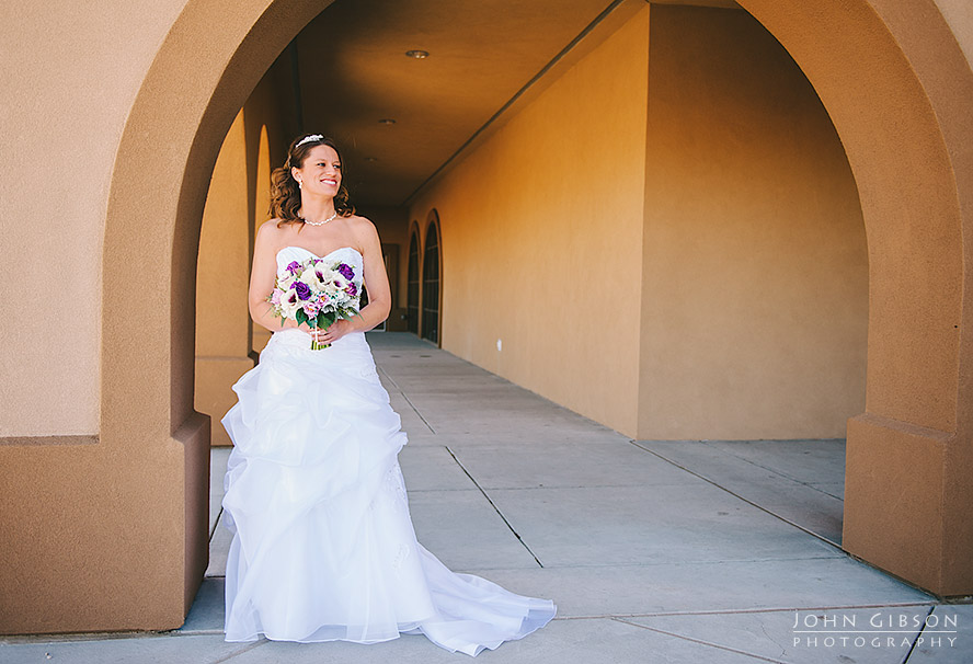 Bride in the archway