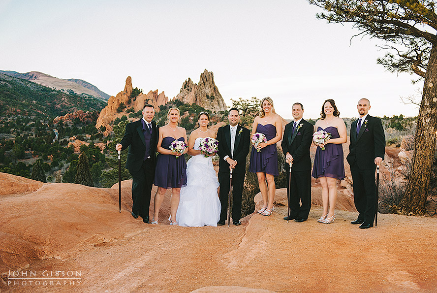 Wedding party at Garden of the Gods