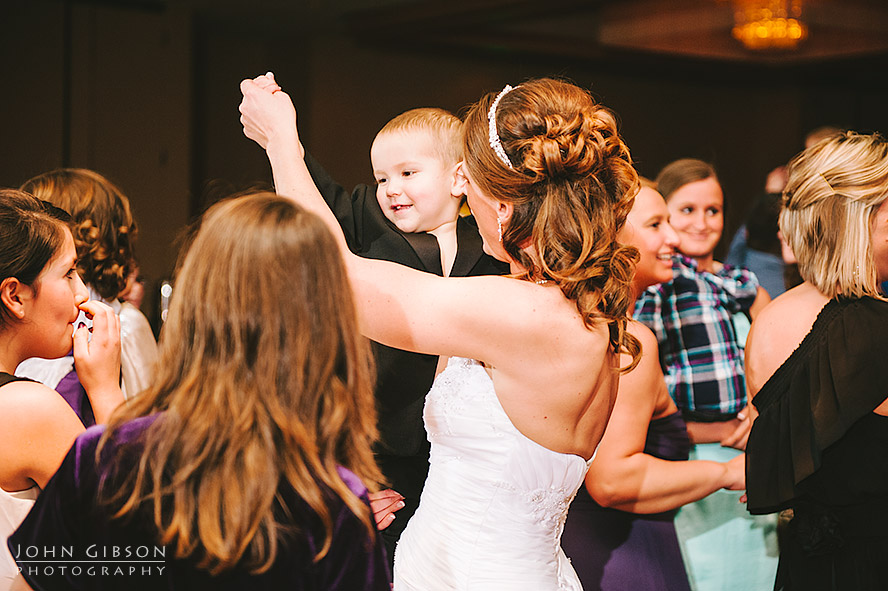 The bride and the ring bearer